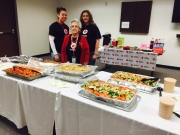 Veterans Day lunch provided by the Desmond Hotel.